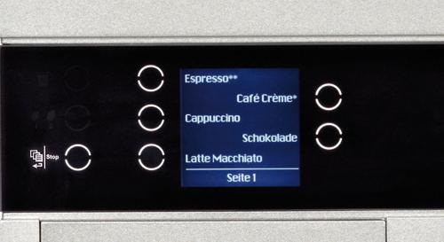 Cafina® ALPHA - Graphic display